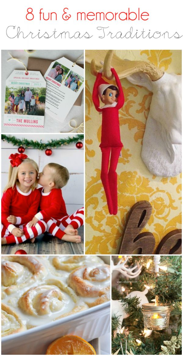8 fun Christmas traditions that your kids will love! Great ideas to start this year!!
