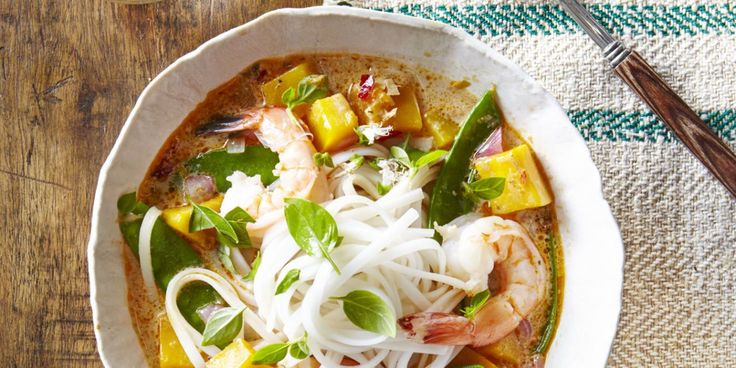 Thai Noodle Soup with Shrimp & Pumpkincountryliving