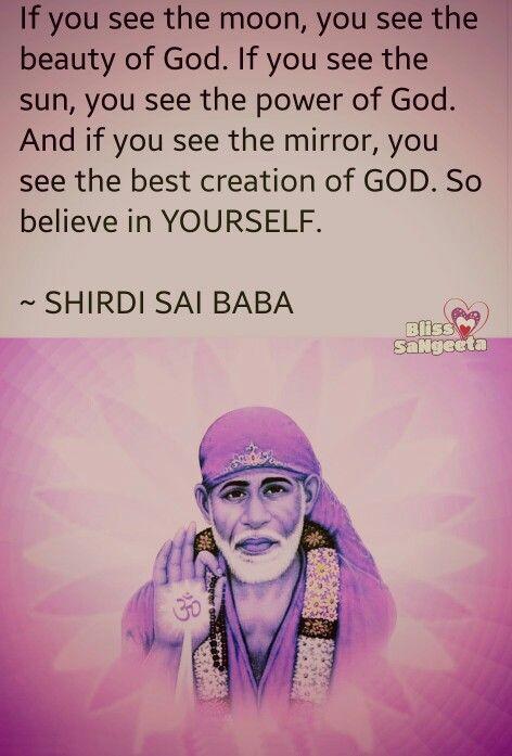 Believe in yourself   #Bliss #saiBaba #believe