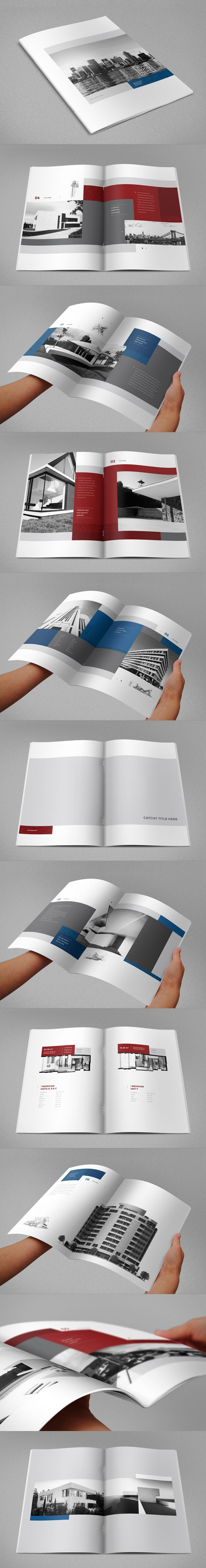 Real Estate Brochure 3 by Abra Design, via Behance