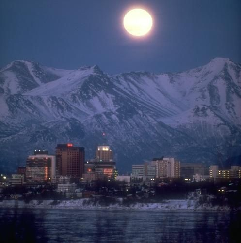 Anchorage, Alaska: Bucket List, Favorite Places, Beautiful Places, Places I D, Full Moon, Travel, Anchorage Alaska, Ive