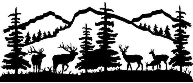 Mountain Scene Deer And Elk Metal Wall Art Powered By