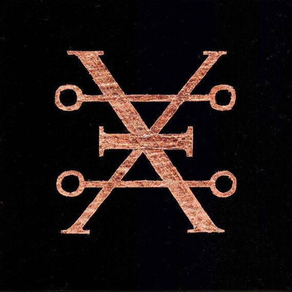Gilded Alchemy Symbol for Copper | My love for Copper borders on obsessive and getting the alchemical symbol for copper as a tattoo would be so awesome!
