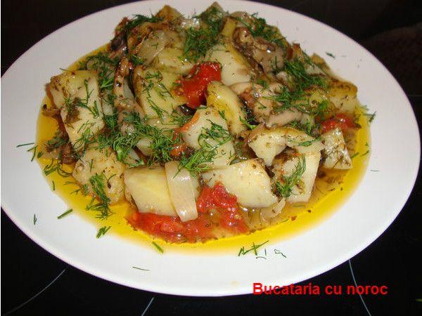 Cartofi cu ciuperci la cuptor - Bucataria cu noroc