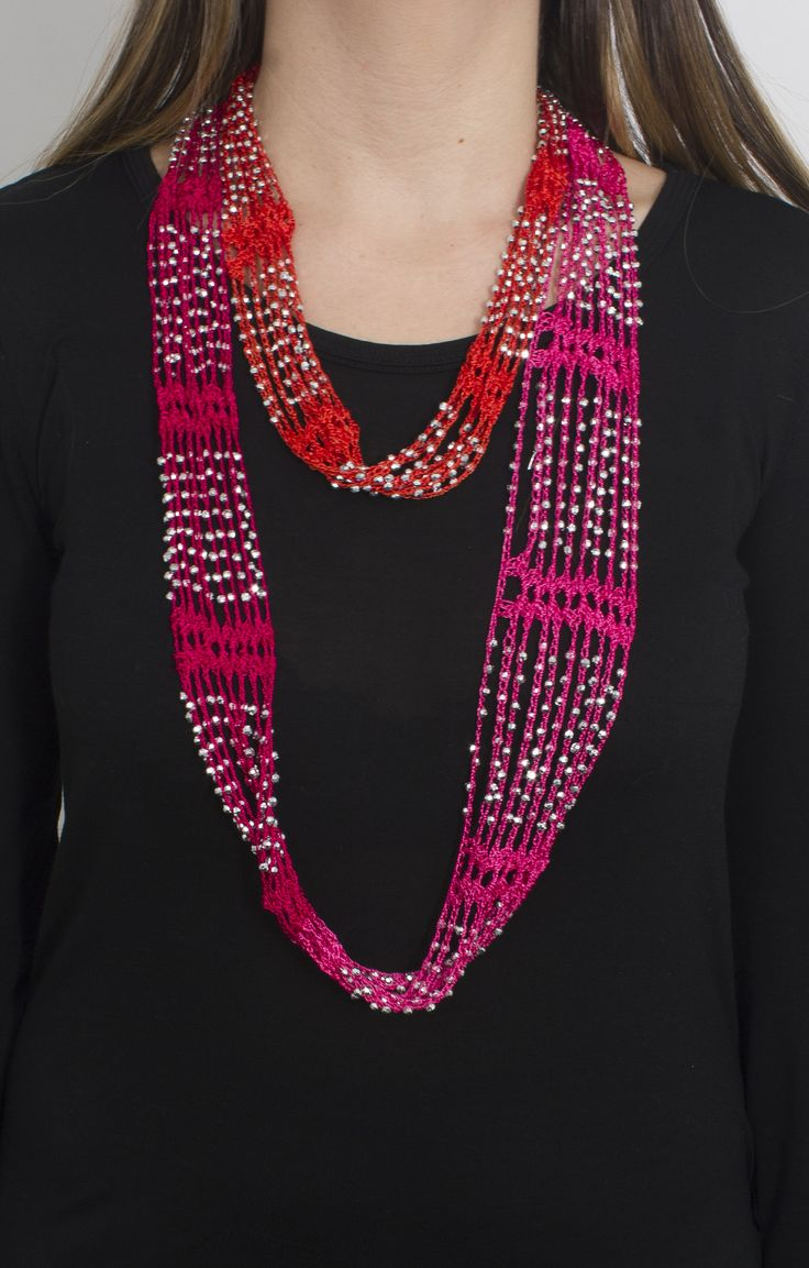 Give your accessory game a facelift with our crochet beaded necklace scarves which bring together two of your favorites! As a great alternative to a necklace, these jewelry scarves will transform a si