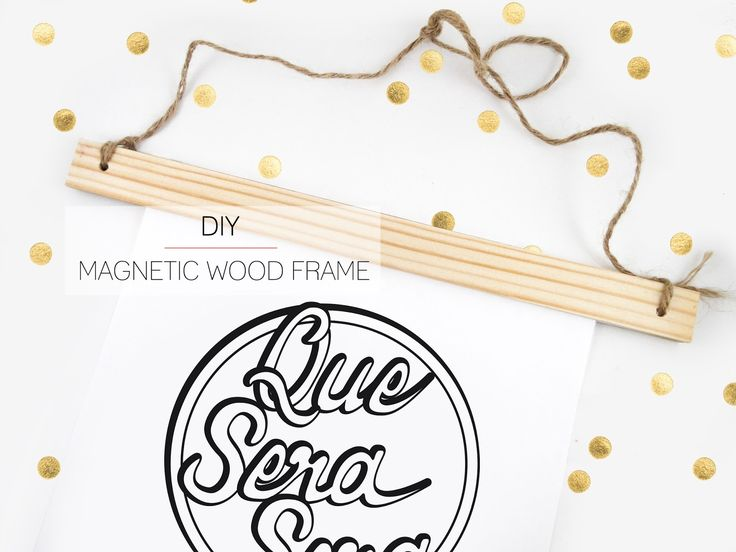 DIY | Magnetic Wood Frame - use paint stir sticks, or maybe wooden rulers (back to school shopping)