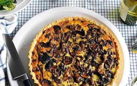 Diana Henry's delicious recipe for an autumnal mushroom and marsala tart   Stella magazine