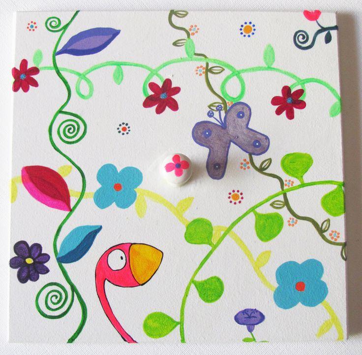 Caja pintada a mano con acr lico y barnizadas ventana de for Cajas pintadas a mano