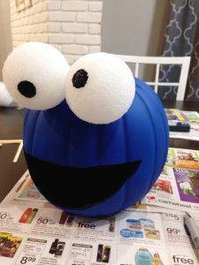 requirescoffee.com | Cookie Monster Pumpkin