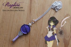 Sailor Saturn Wand Pendant Inspired by Sailor Moon