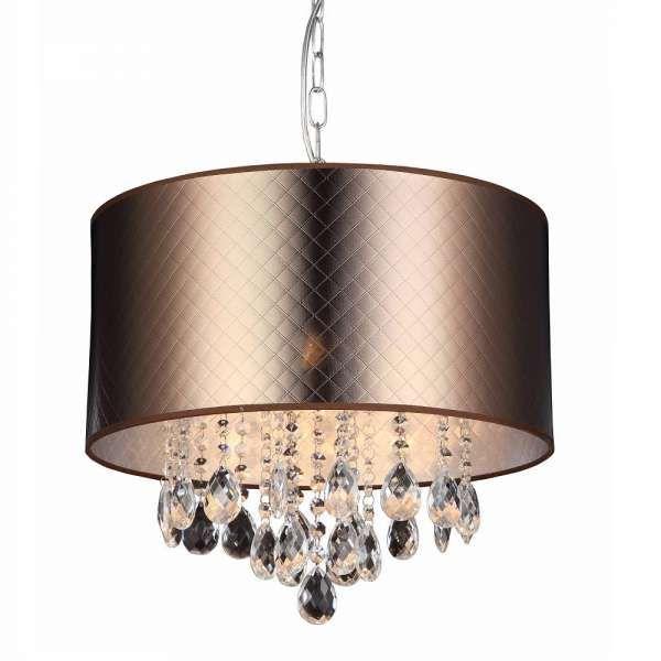 LAMPA wisząca MOTAN MDM2047/3 Italux okrągła OPRAWA zwis z kryształkami crystal brązowy