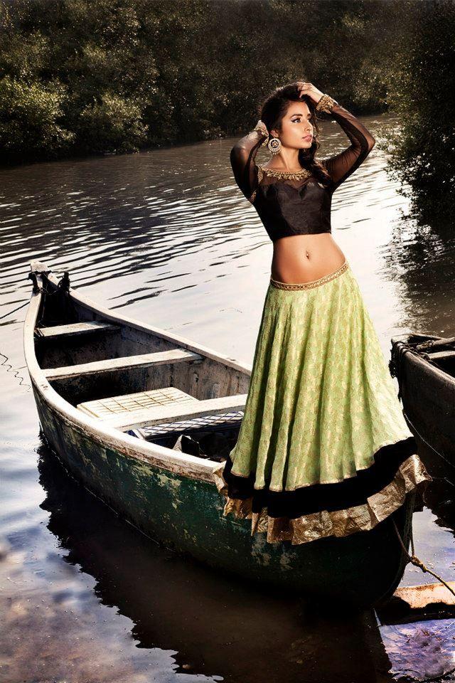 Simple, Beautiful #Lehenga / #Ghagra Choli by Sapana Amin https://www.facebook.com/pages/Dreams-By-Sapana/105397349520906 India, US, Canada