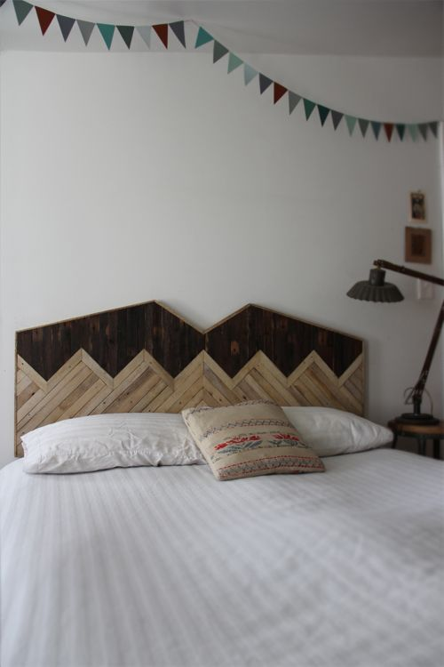 Mountain Peaks Wood Headboard but I would do it with less symmetry