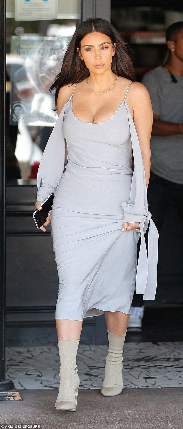 "Copy Kim in a pair of  Yeezy Season 2 booties  Click ""Visit"" to buy #DailyMail"