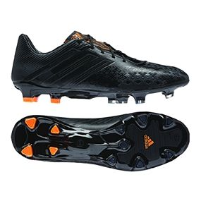 Black out your cleats with the Adidas Predator LZ TRX FG Soccer Cleats (Black/Black/Solar Zest) Get yours at SOCCERCORNER.COM
