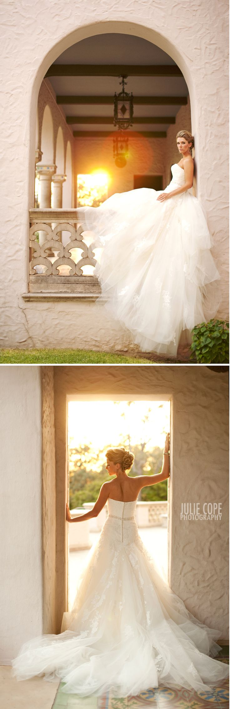 Beautiful Wedding Portraits - I like the doorway picture better than the classic looking in a mirror or out a window shots.