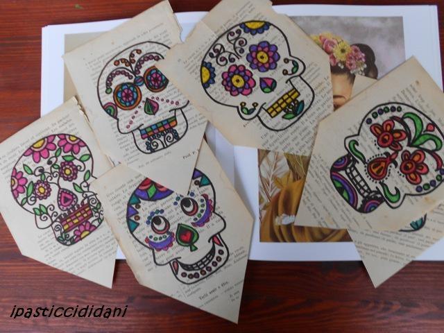 i pasticcididani: Halloween - bandierine e teschi messicani
