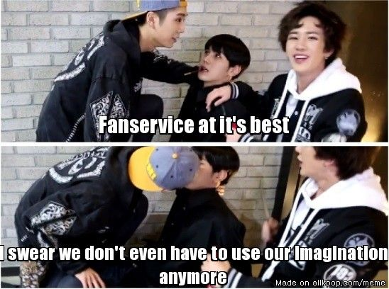 Fanservice Level: Topp Dogg... So glad for the pepero game, it's helping fangirls everywhere!