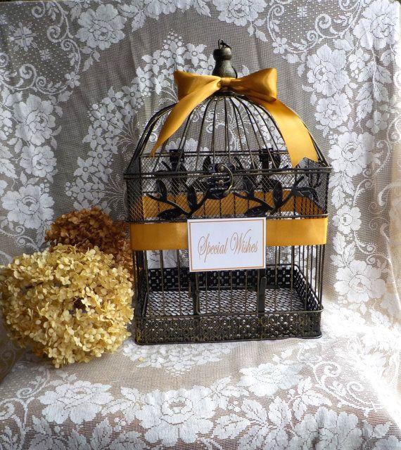 Birdcage Card Holder Wedding Card Box Party Decor by Twenty3Design
