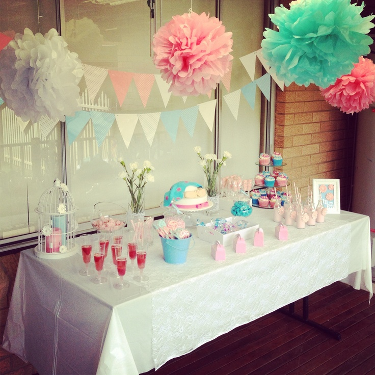Blue and Pink Baby shower theme