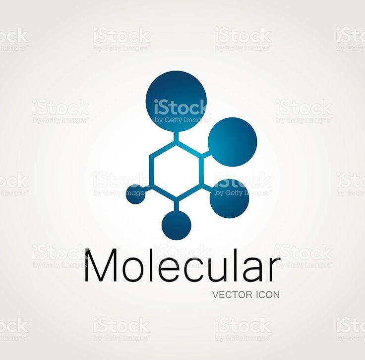 Simbolo molecolare illustrazione royalty-free