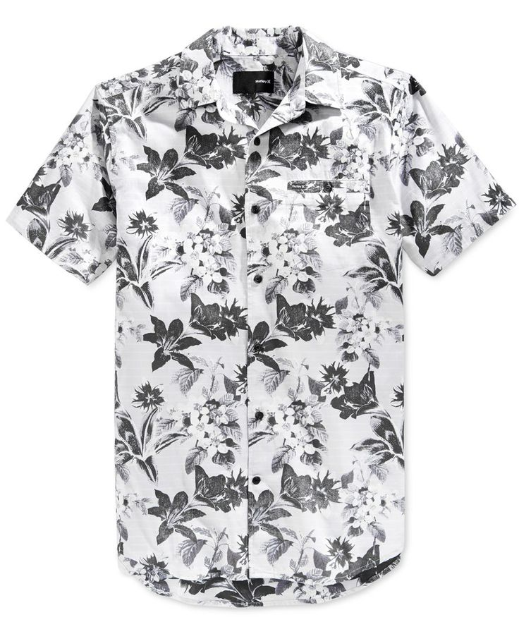 Hurley Men's Meadowlark Floral-Print Short-Sleeve Shirt