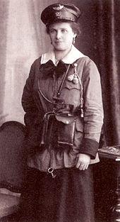 Munich Tram, female conductor (1917)