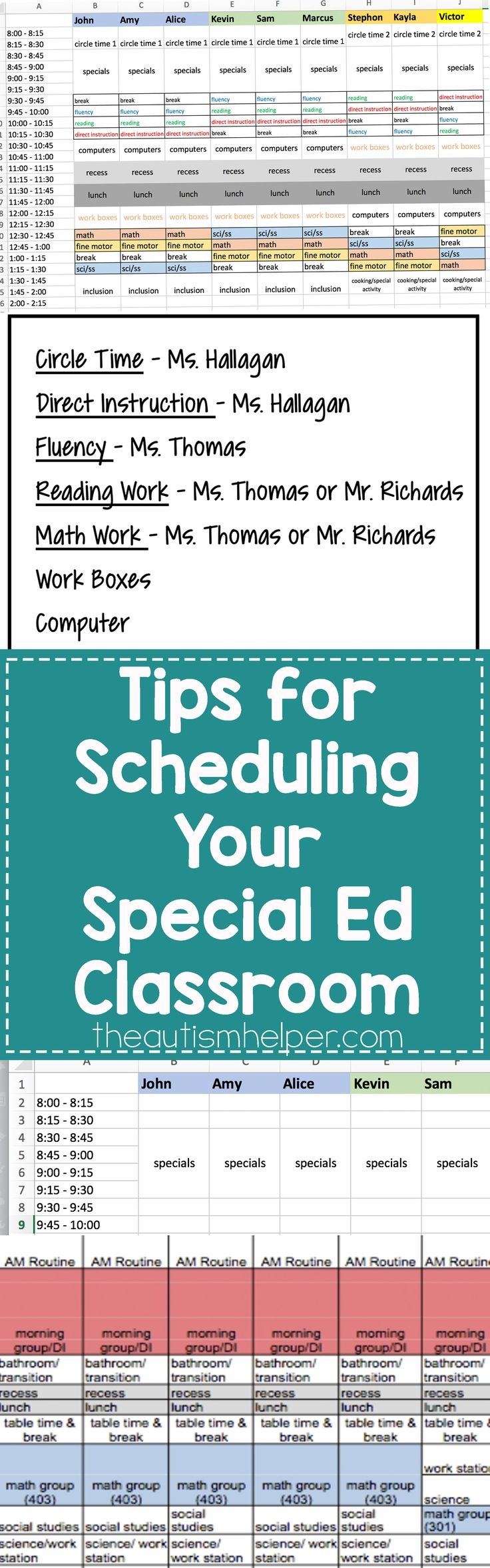 Ideas for Scheduling Your Particular Ed Classroom