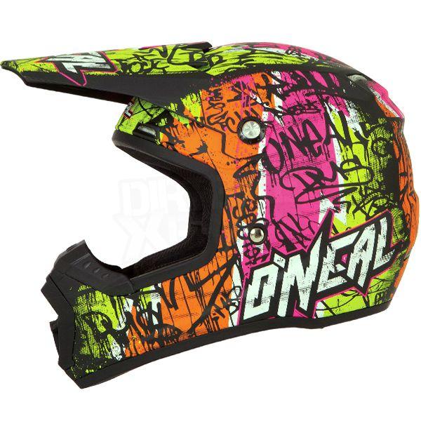 2016 ONeal 5 Series Vandal Motocross Helmet - Black Neon Ylw