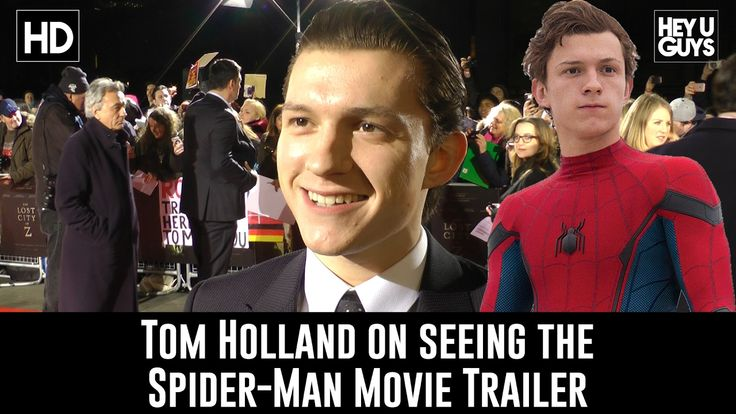 Tom Holland - Reaction to seeing the Spider-Man Trailer