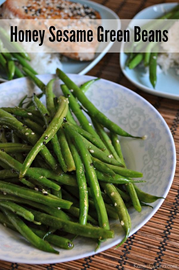 honey sesame green beans green bean recipes beans recipes green beans ...