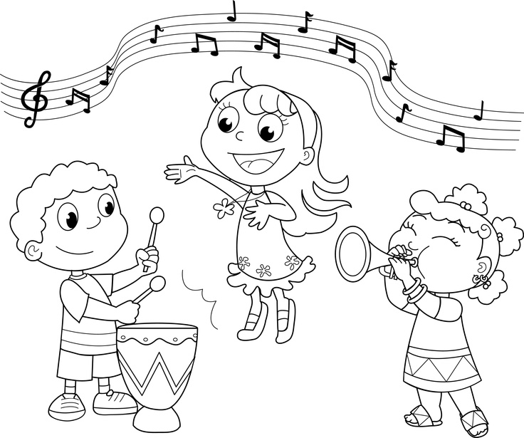 musical fun coloring page