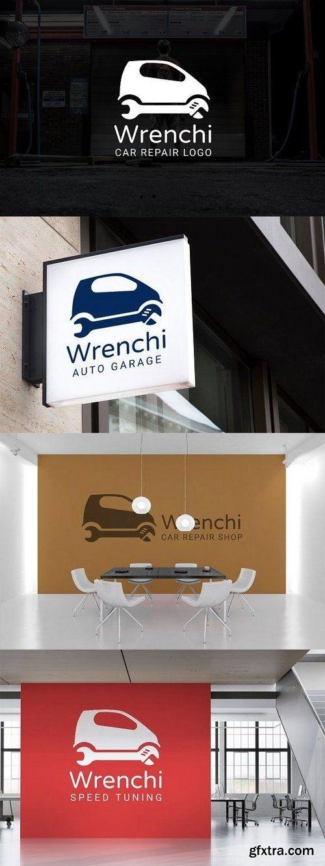 CM - Wrenchi : Car Repair or Auto Repair Logo 1658415