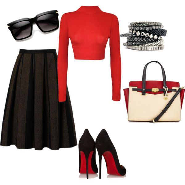 Carol by leoposadas on Polyvore featuring moda, WearAll, Christian Louboutin and H&M