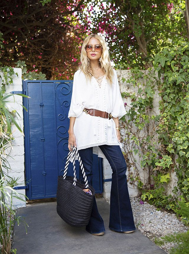 098cdc46d1d0 Rachel Zoe wearing the Summer 2018 Box of Style exclusive cover-up and  beach bag!