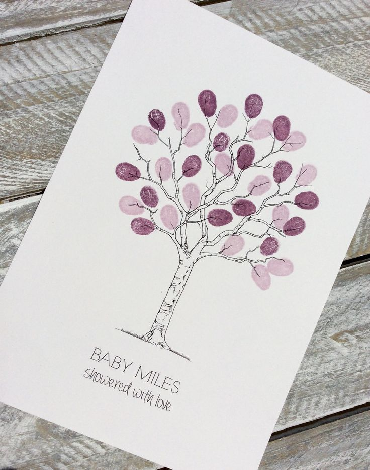 Fingerprint guest book A4 tree. Perfect for small gatherings, engagements, wedding, baby showers, baby namings, christenings and birthday. Guest just add their prints and sign their name to complete this beautiful memento of your special day.