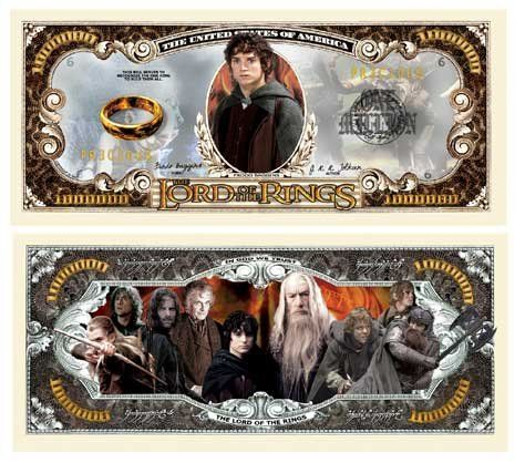 Set of 1000 – Lord of the Rings Million Dollar Bill