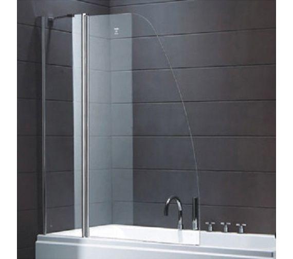 Rak Premium 6 Sail Bath Screen With Panel 1400 X 1200mm