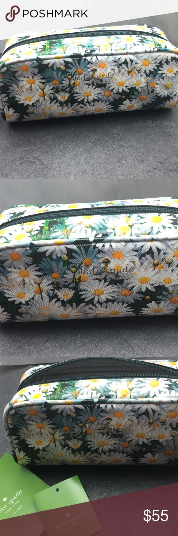 Kate Spade Daisy makeup bag Beautiful Kate Spade make up bag with saffiano leather and daisy print. kate spade Bags Cosmetic Bags & Cases - large handbags sale, purple purses for sale, purses for sale online *sponsored https://www.pinterest.com/purses_handbags/ https://www.pinterest.com/explore/hand-bag/ https://www.pinterest.com/purses_handbags/designer-handbags/ http://www.newchic.com/womens-handbags-3609/