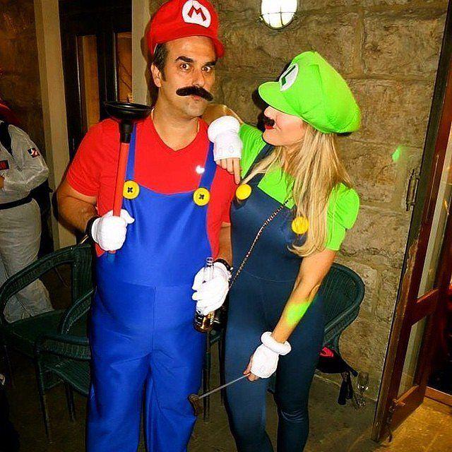 mario and luigi - Mens Couple Halloween Costumes
