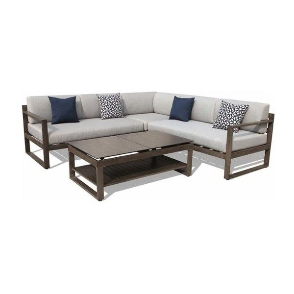 Nador Outdoor Seating Set - Modern - Outdoor Lounge Sets - by Buildcom ❤ liked on Polyvore featuring home, outdoors, patio furniture, outdoor seating sets, modern outdoor furniture, outdoor garden furniture, outdoor patio seating sets and outdoor patio furniture