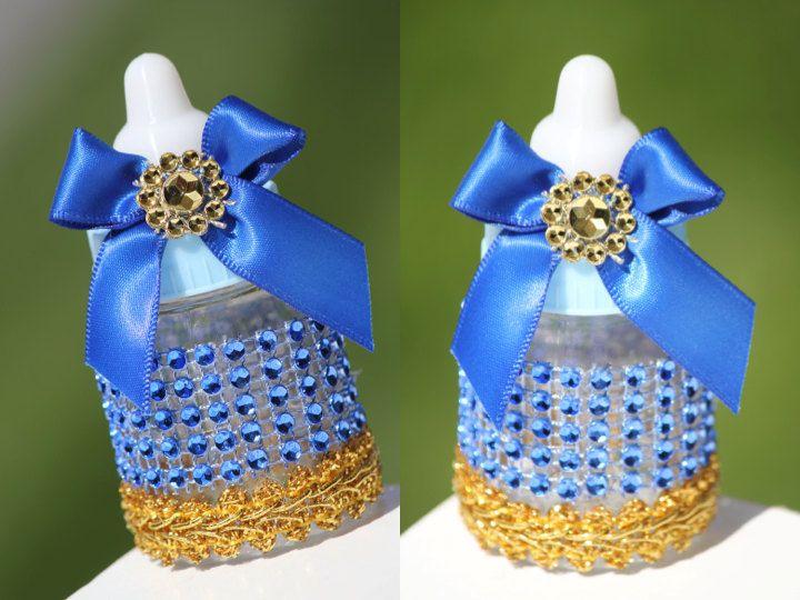 Royal Blue Baby Bottles Little Prince Baby Shower Favors