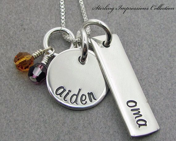 Mommy Necklace  Personalized Jewelry  by DivineDesignJewelers - for Jillian - Ava and Joseph