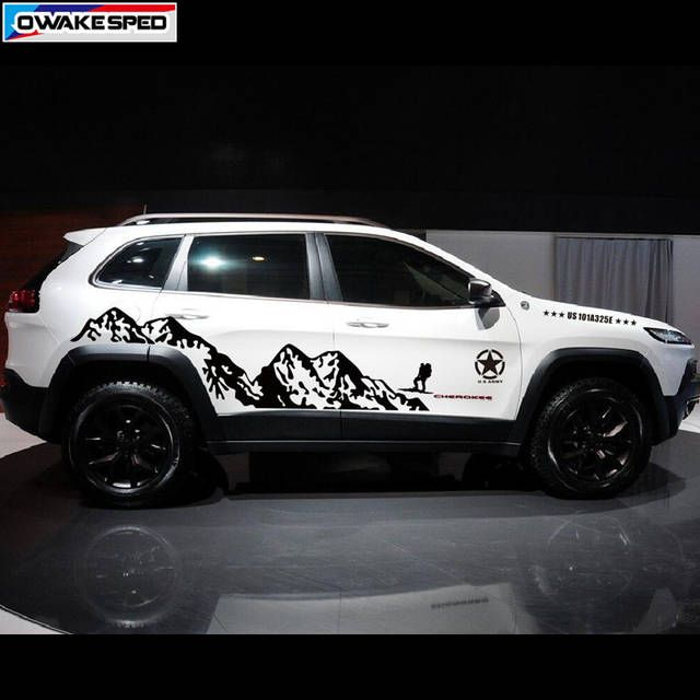 Online Shop Mountain Outdoor Sport Decals Car Styling Door Side Decor Sticker For Jeep Grand Cherokee Compass Auto Body Viny Jeep Auto Body Jeep Grand Cherokee