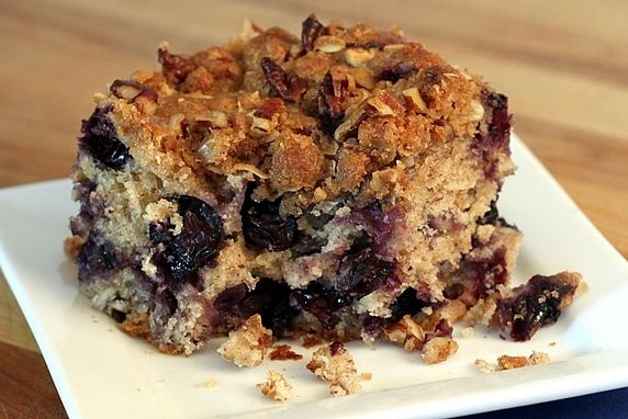 Blueberry Oat Buttermilk Breakfast Cake -- with hearty whole grain ...