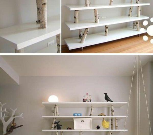 Die besten 25 Birkenstamm deko Ideen auf Pinterest  Birkenstamm natrliche Wohnzimmermbel