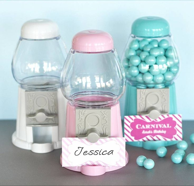 mini gumball machine favours by hope and willow | notonthehighstreet.com