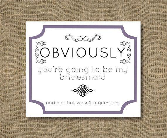 Bridesmaid /Junior Bridesmaid / Asking Bridesmaid / Flower Girl / Will You Be My Bridesmaid Funny / Will You Be My Bridesmaid Invitation by RockCandieDesigns on Etsy https://www.etsy.com/listing/129032972/bridesmaid-junior-bridesmaid-asking