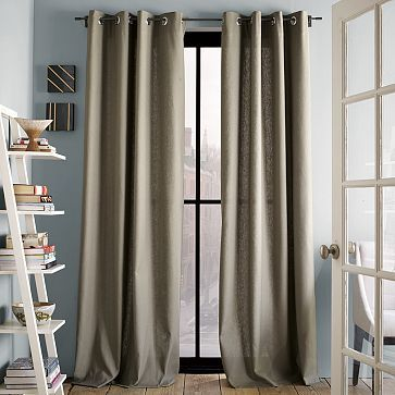black windows/doors linen fabric and wood flooring