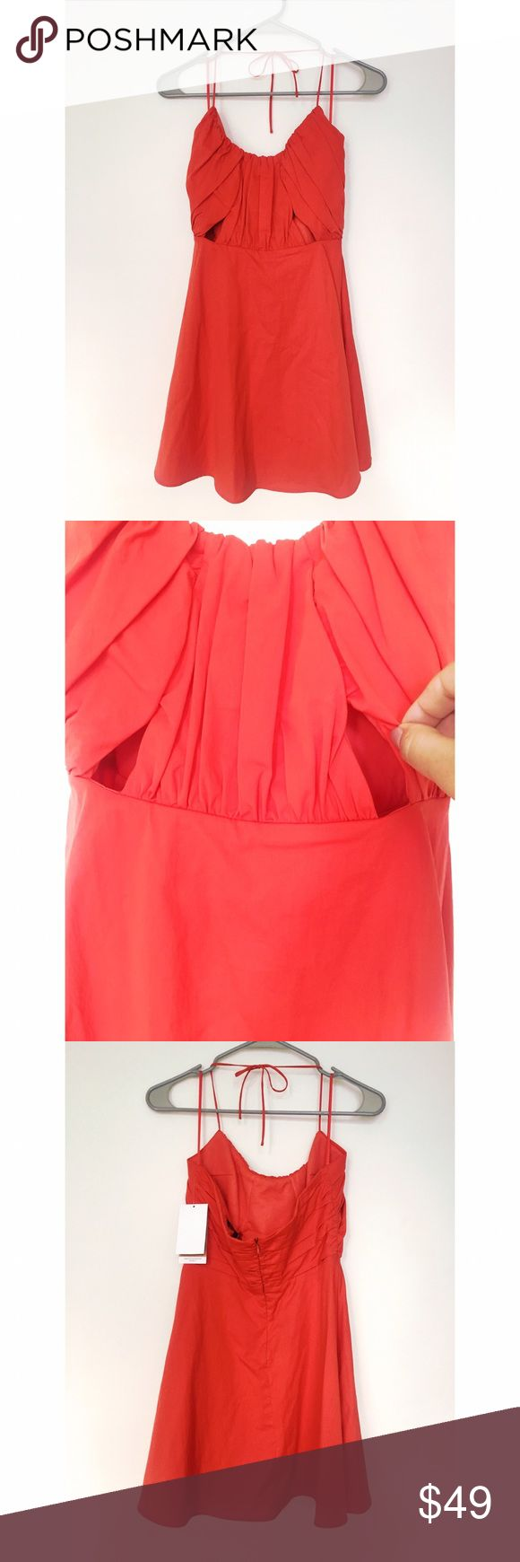 NWT Zara Blood Orange Halter Summer Dress This dress is gorgeous! NWT, it is perfect for graduation or a special summer occasion. Halter top, zip back. Zara Dresses Mini